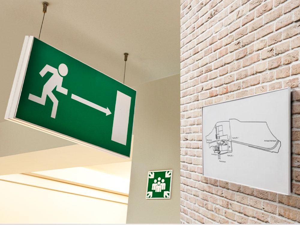 Innendørs skilting av bygg er viktig. I-sign oppfyller de fleste behov.