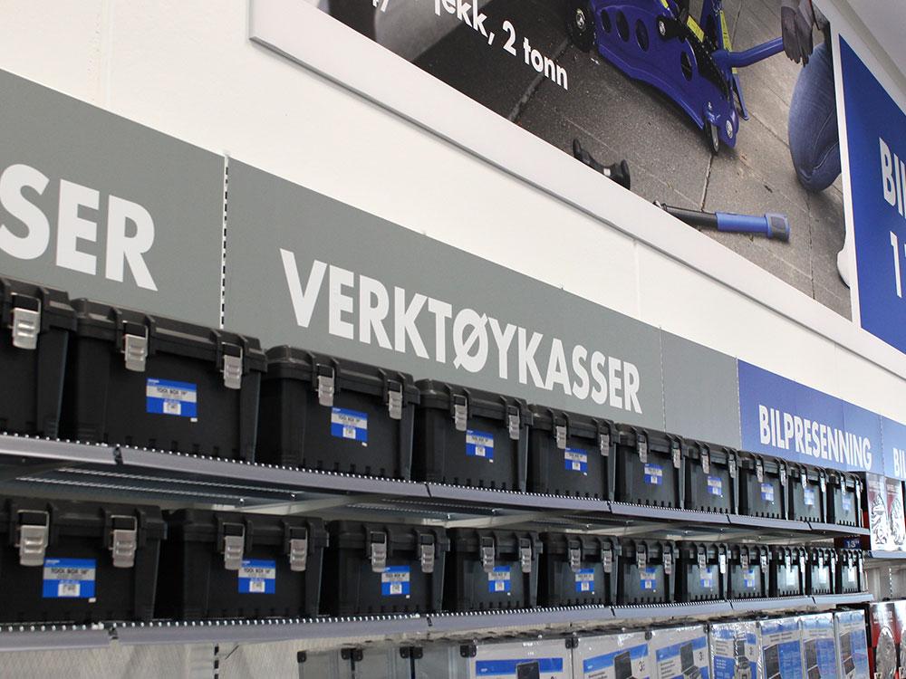 Butikkinnredning med magnetprint er lett å endre.