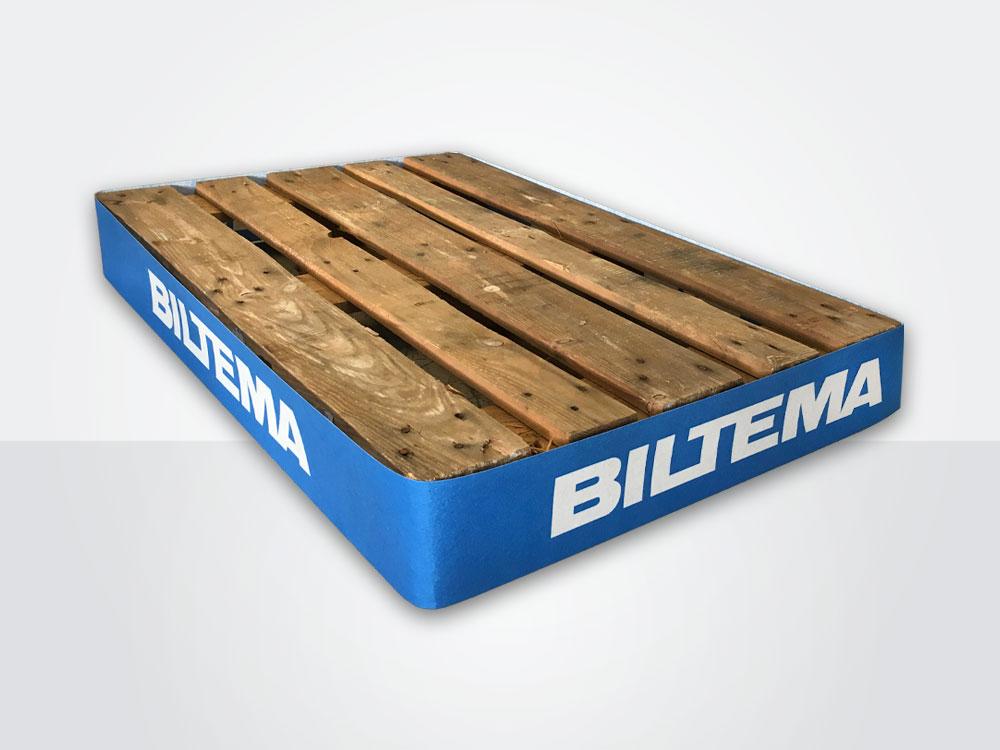 Palleskjørt kan også leveres i kartong som kan resirkuleres.