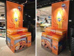 Banner-utstilling-butikk-spesialtilpasset